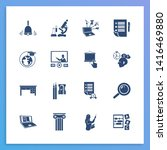 education icon set and...