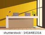 reception desk. cartoon vector... | Shutterstock .eps vector #1416481316