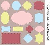 vector vintage labels set. | Shutterstock .eps vector #141648244