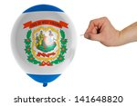 exploding balloon colored in... | Shutterstock . vector #141648820