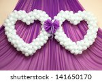 wedding ornament from balloons | Shutterstock . vector #141650170