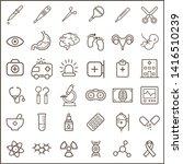set of medical and hospital... | Shutterstock .eps vector #1416510239