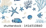 Sea Seamless Pattern With...