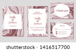 set of wedding invitation card  ... | Shutterstock .eps vector #1416517700