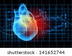 virtual image of human heart... | Shutterstock . vector #141652744
