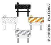 barrier single icon in cartoon... | Shutterstock .eps vector #1416533810