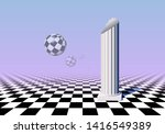 black and white balls flying... | Shutterstock .eps vector #1416549389