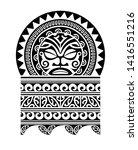 tribal tattoo pattern  art... | Shutterstock .eps vector #1416551216