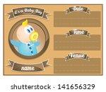 baby boy baby shower invitation ... | Shutterstock .eps vector #141656329