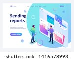 isometric collecting and... | Shutterstock .eps vector #1416578993