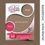 vector fashion brochure  flyer  ... | Shutterstock .eps vector #141660496