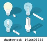 vector isometric illustration... | Shutterstock .eps vector #1416605336