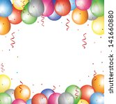 Holiday Background With Baloon...