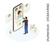 choosing doctor online...   Shutterstock .eps vector #1416614066