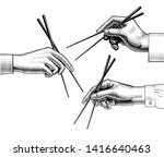 male and female hands with... | Shutterstock .eps vector #1416640463
