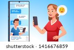modern communication concept.... | Shutterstock .eps vector #1416676859