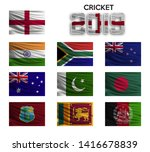 cricket cup 2019. set of the...   Shutterstock .eps vector #1416678839
