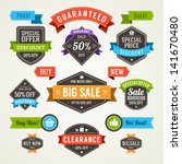 vector vintage sale labels and... | Shutterstock .eps vector #141670480