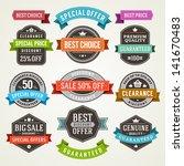 vector vintage sale labels and... | Shutterstock .eps vector #141670483