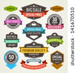 vector vintage sale labels and... | Shutterstock .eps vector #141670510