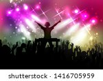 club life dj on the dance floor ... | Shutterstock .eps vector #1416705959