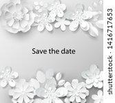 paper art flowers background.... | Shutterstock .eps vector #1416717653