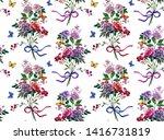 bright watercolor trendy big... | Shutterstock . vector #1416731819