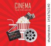 time for movie poster vector...   Shutterstock .eps vector #1416762140