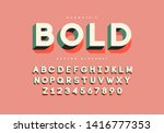 bold retro font with numbers.... | Shutterstock .eps vector #1416777353