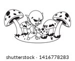 ugly troll in the camp magic... | Shutterstock .eps vector #1416778283