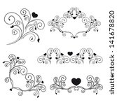 elegant romantic swirls   Shutterstock .eps vector #141678820