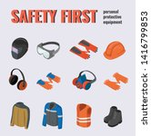 safety equipment ppe... | Shutterstock .eps vector #1416799853