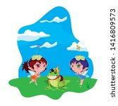 beautiful magic fairies with... | Shutterstock .eps vector #1416809573