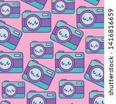 pattern of cameras...   Shutterstock .eps vector #1416816659