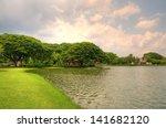 suan luang ramaix park  a... | Shutterstock . vector #141682120