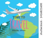 time to travel template...   Shutterstock . vector #1416821600
