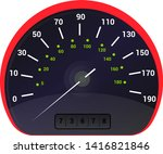 speedometer vector car speed... | Shutterstock .eps vector #1416821846