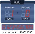 scoreboard vector score board... | Shutterstock .eps vector #1416821930