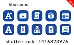 abc icon set. 10 filled abc...   Shutterstock .eps vector #1416823976