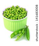 Sweet Green Peas In Bowl...