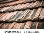 background of old roof tiles | Shutterstock . vector #141683308