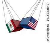 mexico us trade war and... | Shutterstock . vector #1416833843
