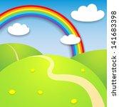 sunny landscape | Shutterstock .eps vector #141683398