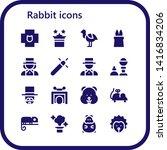 rabbit icon set. 16 filled... | Shutterstock .eps vector #1416834206