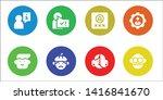 member icon set. 8 filled... | Shutterstock .eps vector #1416841670