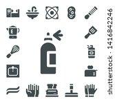 household icon set. 17 filled... | Shutterstock .eps vector #1416842246