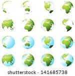 green earth globe set | Shutterstock .eps vector #141685738