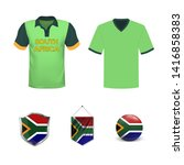 cricket cup. set of polo t... | Shutterstock .eps vector #1416858383