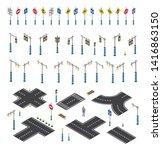 the road streetlight traffic... | Shutterstock .eps vector #1416863150