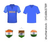 cricket cup 2019. set of polo t ... | Shutterstock .eps vector #1416863789